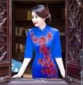 Long Chinese Dresses Women Winter Velvet Cheongsam Qipao Plus Size Print Vintage Dresses Mandarin Collar Chinese Costumes Robe