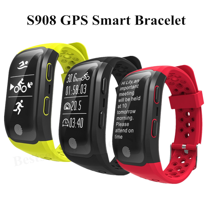 2017 Newest S908 GPS Smart Band Bluetooth 4 2 Heart Rate IP68 Waterproof Sleep Monitor Pedometer
