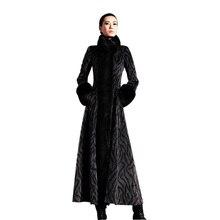 New Wool Blends Long Coat Slim Temperament Wool Coat Detachable Faux Fur Collar High-end Luxury Women Winter Coat manteau femme