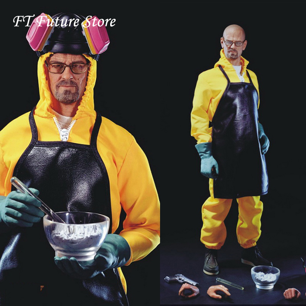For Colelction WK201401 1/6 Collectible Full Set Male Chemical Poisoning Teacher Breaking Bad Walter White Model for Fans Gifts image