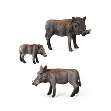 Foreign Trade Boutique Animal Hand To Do Wild Boar Model Ornaments Doll Spot Toy Set Kids Gift(China)