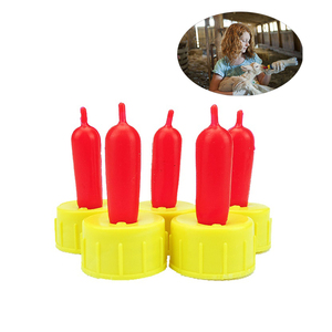 10 Pcs Livestock Sheep Lamb Milk Drinker Nipple Bottle Soft Rubber Pacifier Orphaned Lamb Pup Dog Feeding Equipment