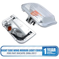 Pair Right Left Side Door Wing Mirror Indicator Lens cover For FIAT DUCATO 2006 2016