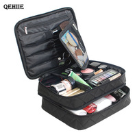 QEHIIE Cosmetic Bag Large Capacity Makeup Bags Travel Bag Cleaning Cosmetic Case Tissue Bag Beautician Set