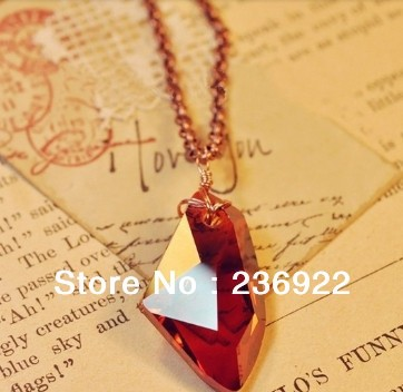 HP And The Sorcerers Red Crystal Magic Philosophers Stone Necklace Pendant Chain Popular Jewelry Wholesale Hot Sale