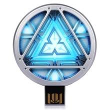 Avengers Iron Man Energy Ark 512 GB USB Flash Drives 128GB 256GB LED Light Pendrive Flash Memory Stick Gift Pen Drive 64GB 2.0