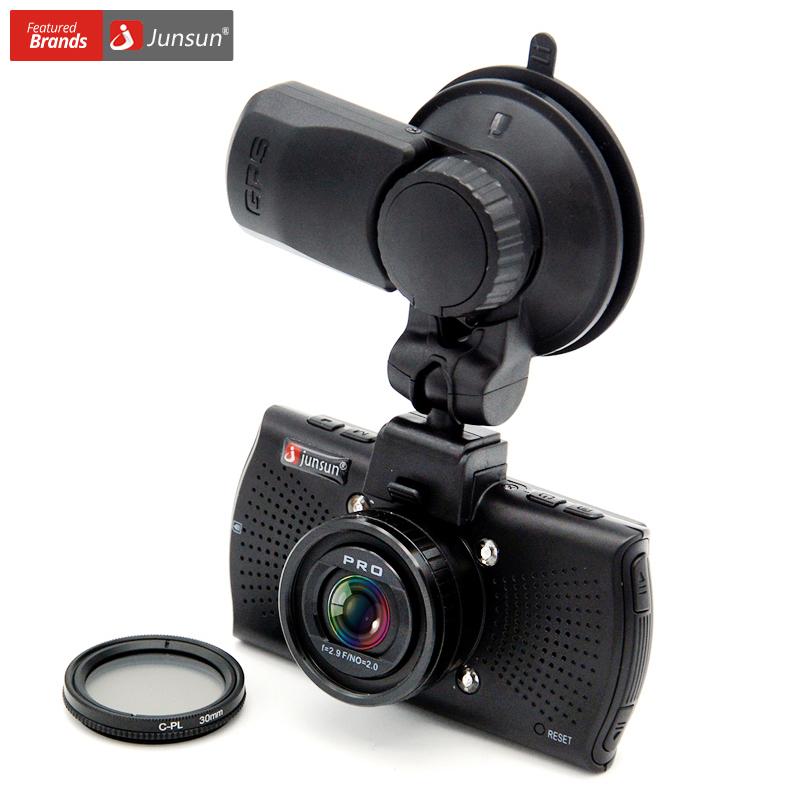 Prix pour Junsun a7810 ambarella a7la70 voiture dvr caméra gps avec speedcam 1296 p full hd 1080 p 60fps vidéo enregistreur greffier dash cam