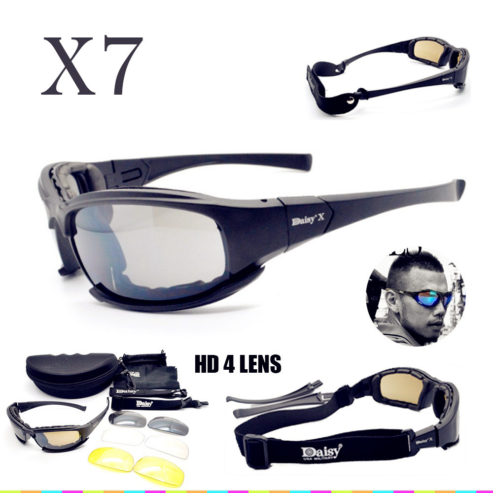 DAISY-X7-Goggles-4LS-Men-Military-polarized-Sunglasses-Bullet-proof-airsoft-shooting-Gafas-smoke-lens-Motorcycle_