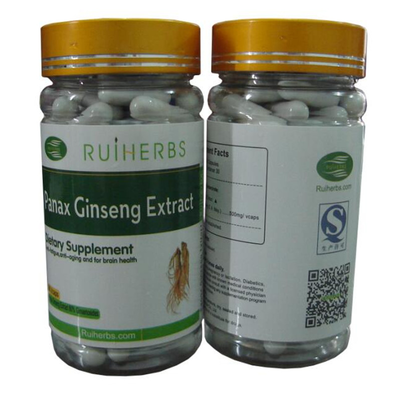 Ginseng Extract 80% Ginsenosides Caps 500mg x 90Counts =1bottle free shipping free shipping pure nature raspberry extract raspberry ketones powder 500mg x 100caps