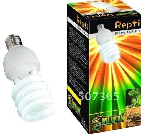 2pcs Repti-Glo 2.0 UVB Compact 26W Reptile Bulb FULL SPECTRUM TERRARIUM LAMP Free Shipping