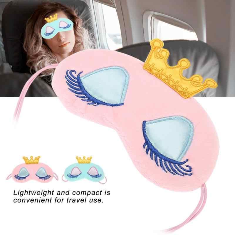 Милая маска для сна в виде короны для сна, для сна, оттенок покрытия для сна, для женщин и мужчин, Мягкая повязка на глаза, для путешествий, с рисунком, повязка для глаз, подарок