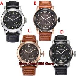 44mm Parnis rezerwa chodu ST 2530 szafirowe szkło luminous mechanizm automatyczny zegarek męski