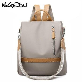 1609d4ead8b58 Anti hırsızlık için kadın sırt çantası Su Geçirmez naylon omuz çantaları  kadın okul çantaları çok fonksiyonlu seyahat sırt çantası Büyük Geri Paketi
