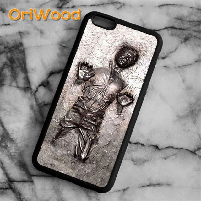 pretty nice fe3a0 17d97 OriWood star wars han solo in carbonite Case cover For iPhone 6 6S 7 8 Plus  X 5 5S SE Samsung galaxy S5 S6 S7 edge S8 Plus-in Fitted Cases from ...
