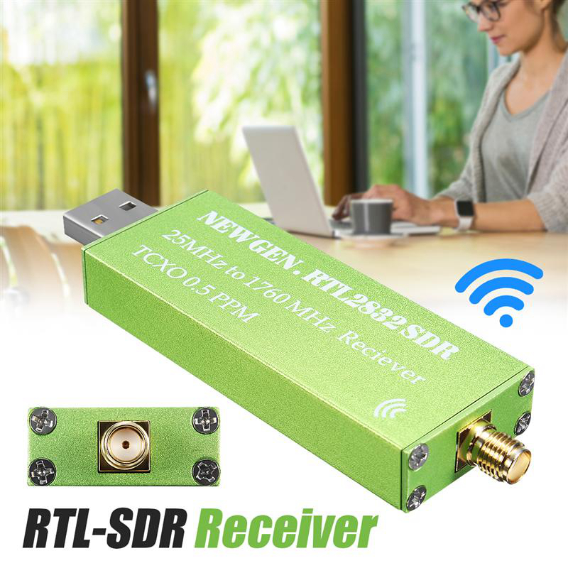 0.5 PPM TCXO TV Receiver 25MHZ to 1760MHZ RTL SDR Receiver Support AM/NFM/FM/DSB/USB/L RTL2382U Mini Wireless Current Receiver image