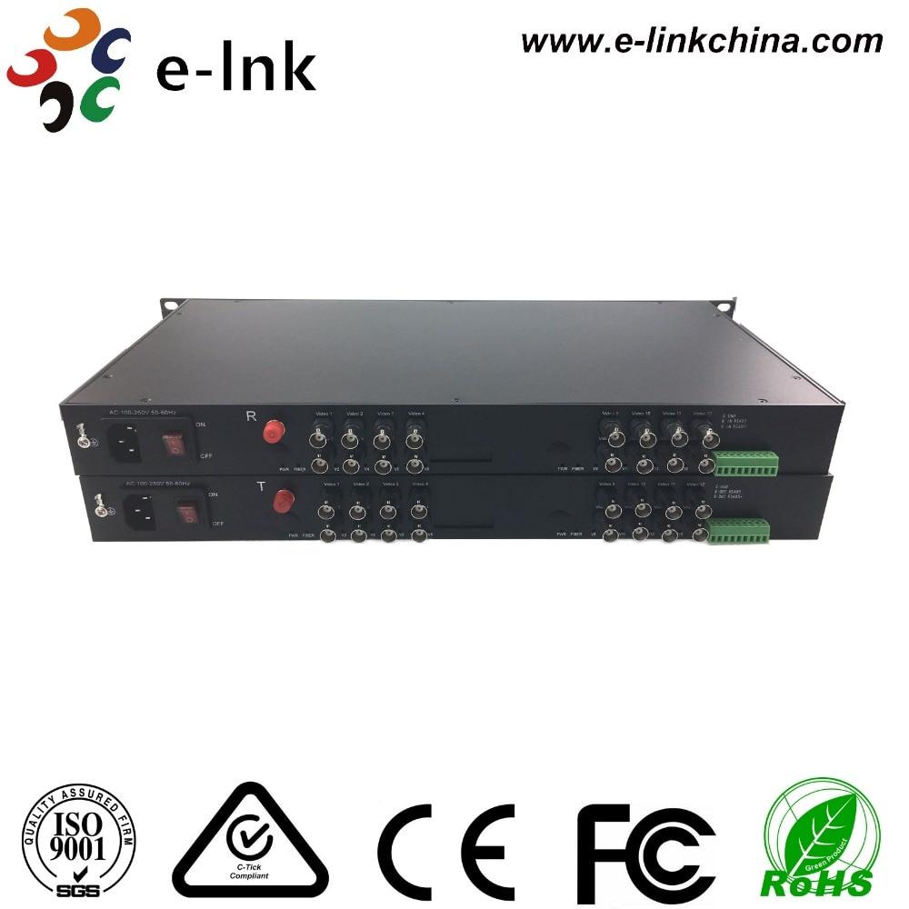 16 Port 1080P AHD Fiber Optic Transceiver for 2MP AHD Camera
