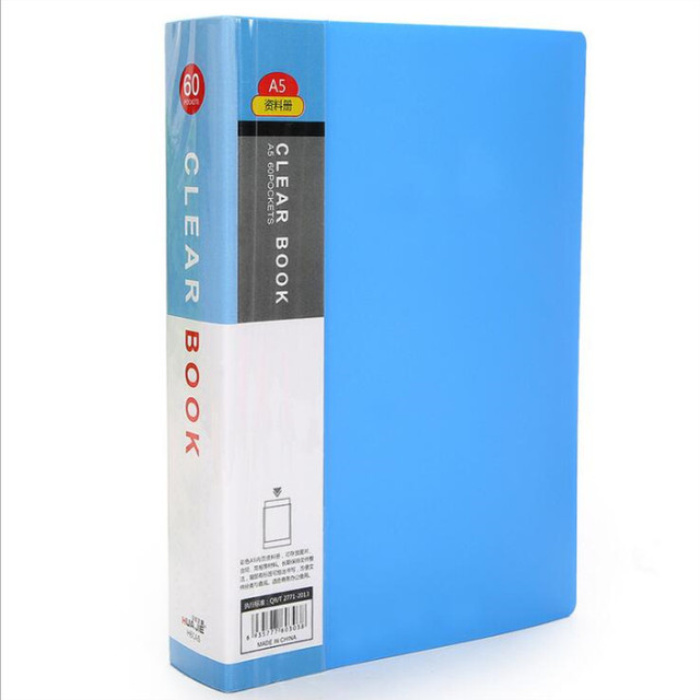20 pages Plastic File A5 list Booklet Insert Folder School Business Office Supplies Folder Plastic Storage Documents Paper
