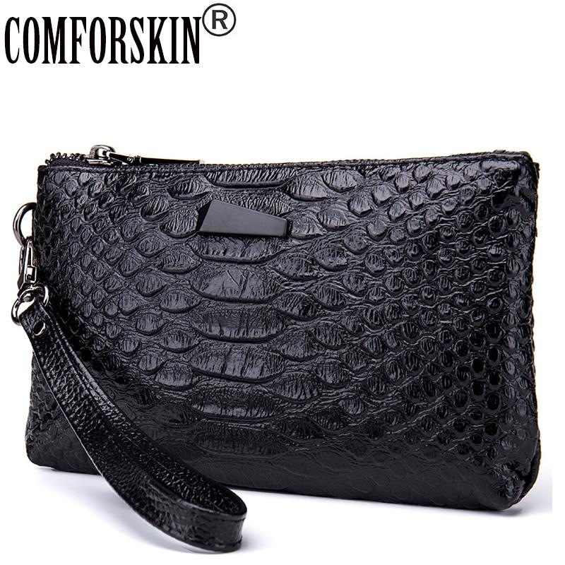 Fashion Alligator Grain Women Organizer Wallets Quality Split Leather Crocodile Pattern European American Female Clutch Purses