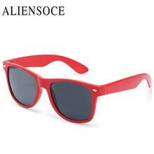 ALIENSOCE Rays Designer Frame Sunglasses Unisex Plastic Leg Men Goggles UV400 Sun Glasses For Women gafas de sol hombre