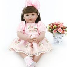 Nueva muñeca de bebé renacida de silicona suave vinilo renacida princesa muñeca de 55 cm bebes Reborn l. o l muñeca sorpresas regalo para niños