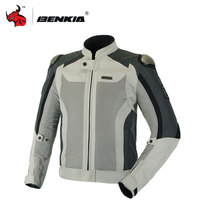 BENKIA Summer Motorcycle Jcaket Breathable Jacket Racing Clothes Spring And Autumn Motorcycle Protective Clothing