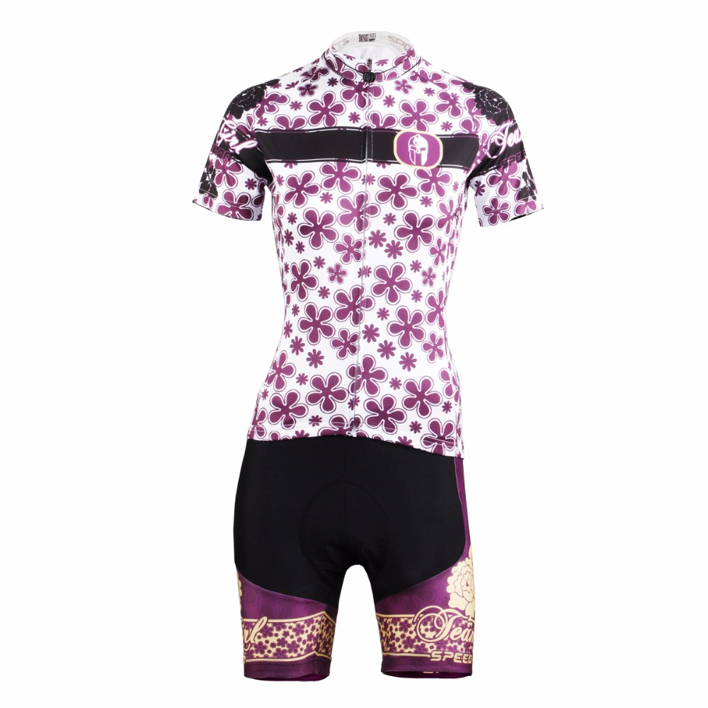 Cycling Jersey WomenPurple FlowerShort Sleeve Cycling Clothing Women Cycling Jersey Cycling Sets X608 cycling jersey womenpurple flowershort sleeve cycling clothing women cycling jersey cycling sets x608