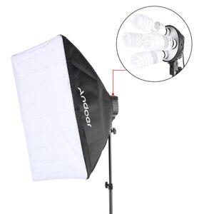Image 3 - Cz estoque andoer estúdio foto iluminação kit com 2 * softbox 2*4in1 lâmpada soquete 8*45w lâmpada 2 * suporte de luz 1 * saco de transporte