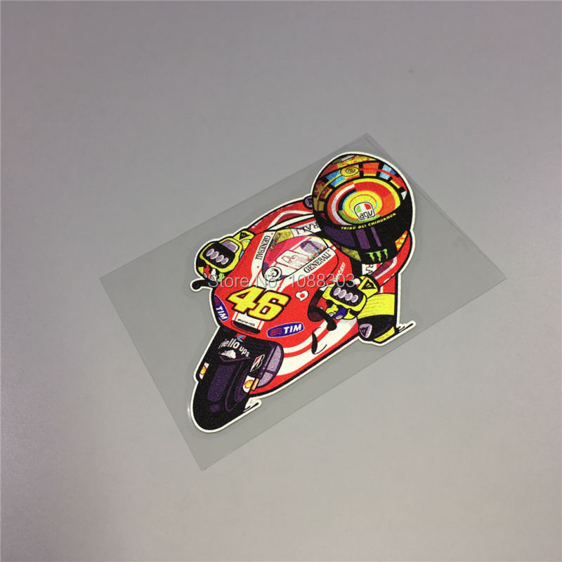 Cartoon Motor Rossi 46 Car Sticker Decals For 46 Cool Racing