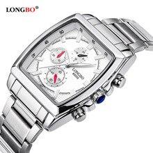 2017 Brand Luxury Full Stainless Steel Mens Watches LONGBO Pilot Milirary Sports Creative Quartz Wristwatch Relogio Masculino longbo relogio 2015 8810b