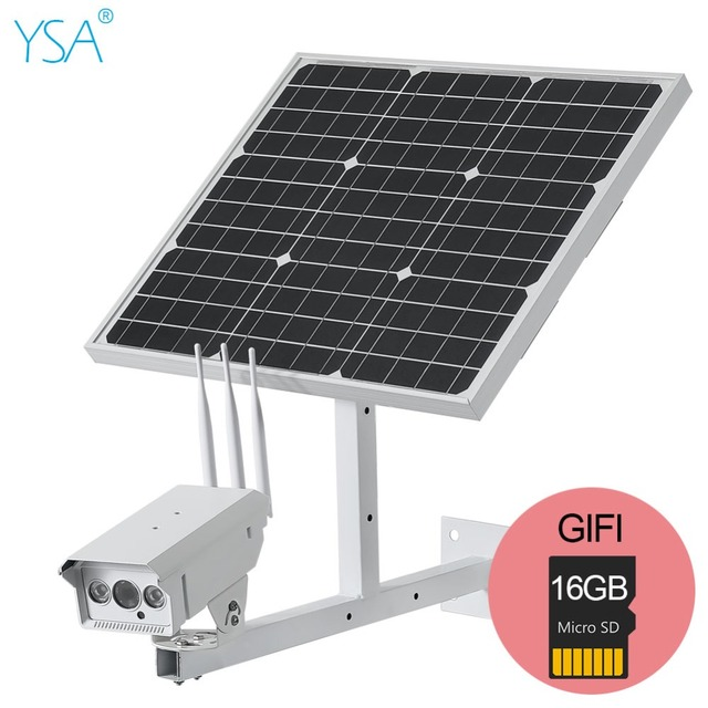 30W Solar Panel IP Camera 1080P HD Wireless Wifi Security Camera Outdoor 3G/4G SIM Solar Powered CCTV Surveillance With 16GB 1