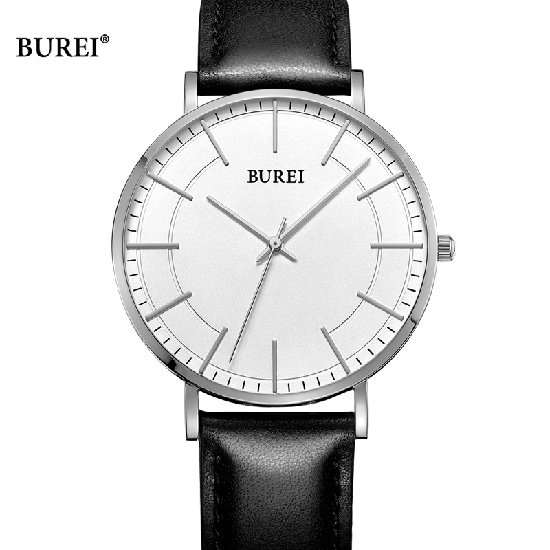 BUREI Women Watches Ladies Waterproof Fashion D Style W Business Quartz Wrist Watch Leather Dress Clock Saat Relogio Feminino