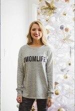 Woman Hoodies Sweatshirts Ladies Autumn Winter Fall Clothing Print Letter Mom Life Classics Fashion O-neck Shirts