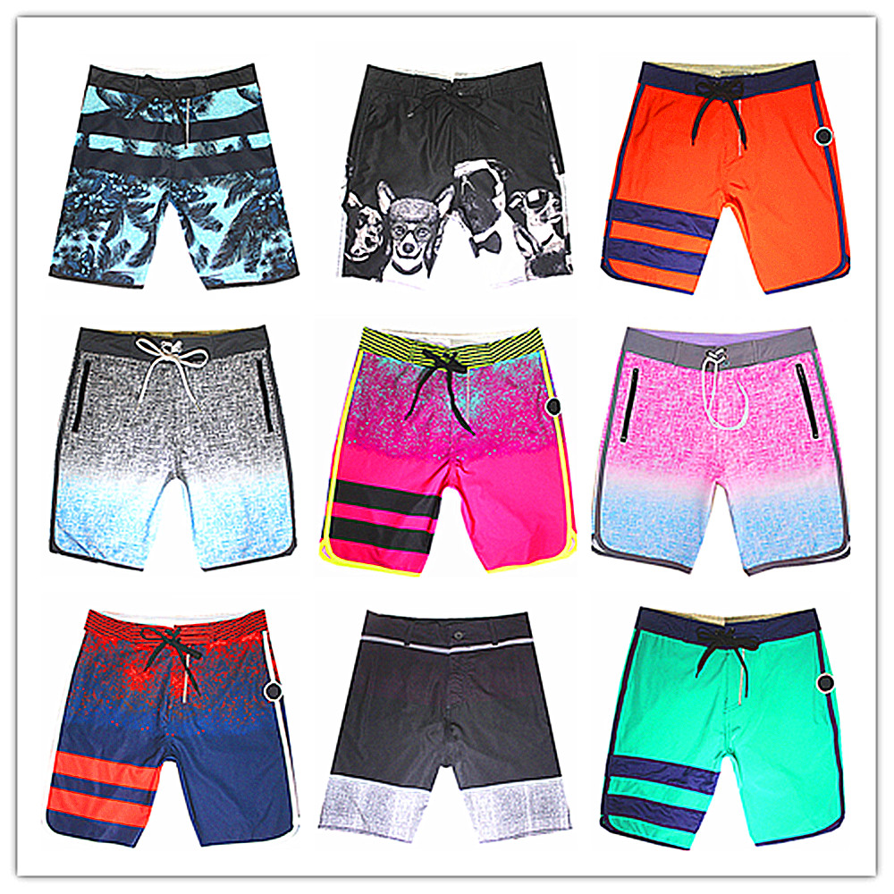 Promotion 2018 Brand Phantom Beach   Board     Short   Men Spandex Elastic Man Boardshorts Swimwear 100% High Quality Quick Dry Swimsuit