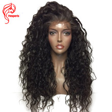 Hesperis Lace Front Human Hair Wigs Pre Plucked Baby Hair 150 Density Brazilian RemyHair Curly 13x6 Lace Front Wigs For Woman(China)