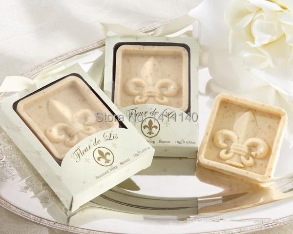 Free Shipping 10pcs Wholesale Fleur De Lis Scented Soap Wedding