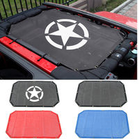 2 Door 4 Door Sun Shade Eclipse Top Cover Star Roof Mesh for Jeep Wrangler JK JKU Parts Provides UV Protection Cover