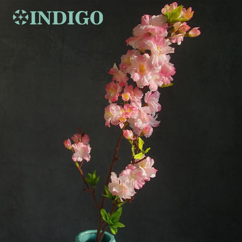 INDIGO- 5db / Lot Cherry Blossom őszibarack virág mesterséges - Ünnepi és party kellékek