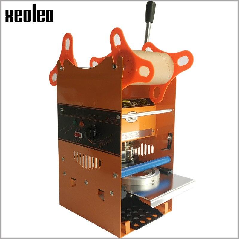 Xeoleo Manuel Tasse d'étanchéité machine pour 7/7. 5/9. 0 cm tasse Bulle thé machine 220 V Tasse scellant pour le Café/thé aux Bulles D'étanchéité machine