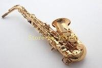 Francuski 54 E Płaskim Saksofon altowy Eb Top Saxe Instrument Muzyczny Platerowane Złotem Proces saxofone Sax Profesjonalne dobrej jakości