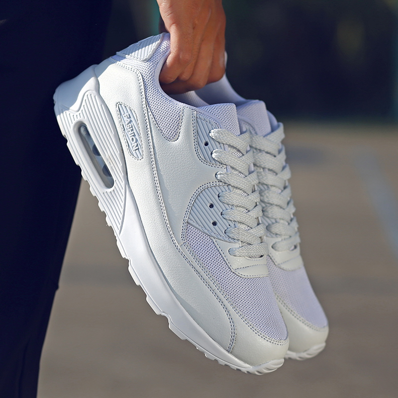 2019 Fashion Sneakers Men White Shoes Breathable Mesh Running Shoes for Women Air Cushion Sports Shoes Jogging Zapatos De Mujer