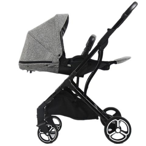 carrinho de bebe de luxo moda europea transporte two way newborn pram kinderwagen alta paisagem