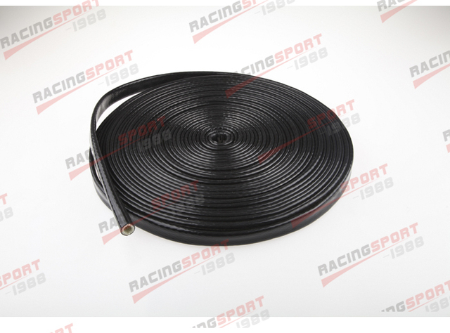 Black 1/4'' silicon jacketed Heat sleeving STHS-1/4