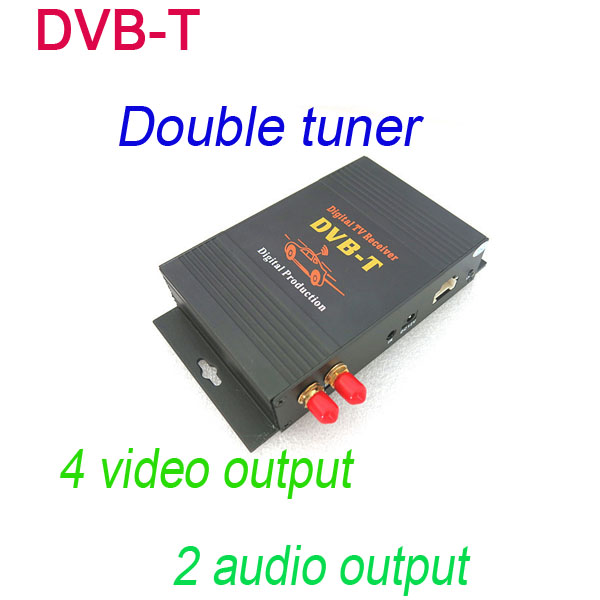 Double tuner DVB-T Digital TV box in the car dvd Just sold it with our car dvd Together