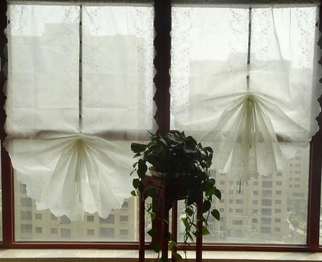 Blanc Organza broderie ballon rideau fini rideau 65 cm 85 cm largeur ...