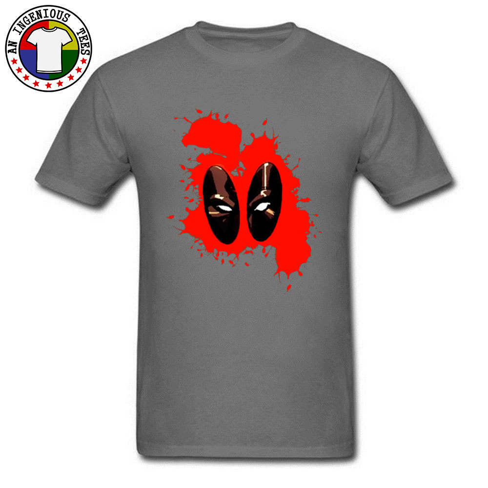 Deadpool Splattered 1226 Male Slim Fit Normal Tops Shirts Round Collar Fall 100% Cotton Tshirts Gift Short Sleeve Tee Shirts Deadpool Splattered 1226 carbon