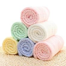 Seartist 2019 New Baby Blankets Newborn 6 Layers Gauze 100% Cotton Muslin Blanket Bath Towel Swaddle Wraps Bebes Solid Stuff 30C
