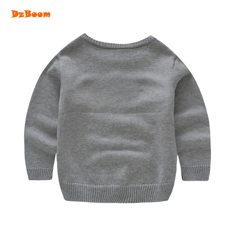 DzBoom Fashion Kid Soft Cartoon Knitted Sweater 2017 Autumn Winter Child  Boys 100% Cotton Fox Pattern Baby Pullover Sweaters-in Sweaters from Mother    Kids ... 11749d0ae26