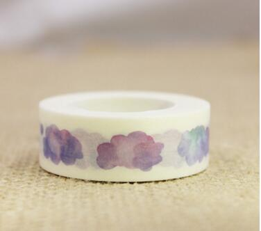 2PCS 1.5cm*10m Lovely Clouds Washi Tape Masking Tape DIY Decoration Scrapbooking Sticker Label Masking Tape School Office Supply