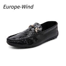 EuropeWind Men Shoes Casual Loafers Imitation Crocodile Spring Winter Slip on Mens Shoes Men Dress Loafers Comfortable Moccasins