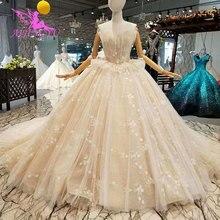 AIJINGYU مقاس كبير فساتين زفاف بوهو بذلة ثوب الخطوبة طيات الزفاف المصممين فساتين الزفاف دبي فستان الزفاف